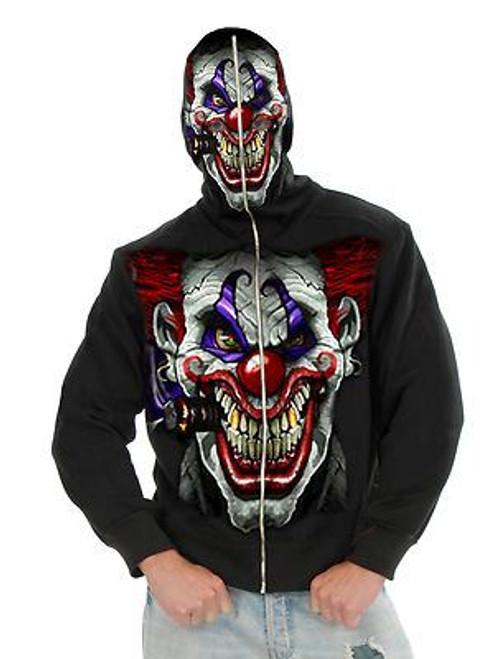 EVIL CLOWN jacket hoodie mask scary juggalo mens adult halloween costume LARGE
