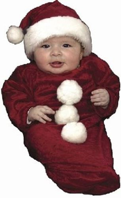 SANTA BUNTING infant baby girls boys Christmas claus holiday costume party 6M