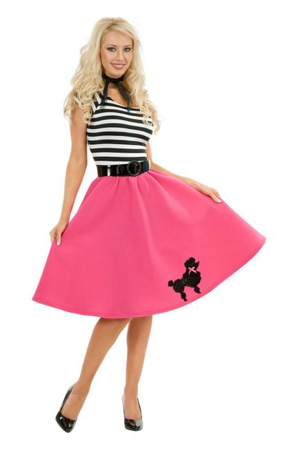 POODLE DRESS skirt 50s sock hop housewife sexy halloween womens costume XS