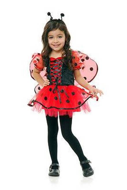 black & red LOVE BUG kids girls ladybird beetle halloween costume MEDIUM 8-10