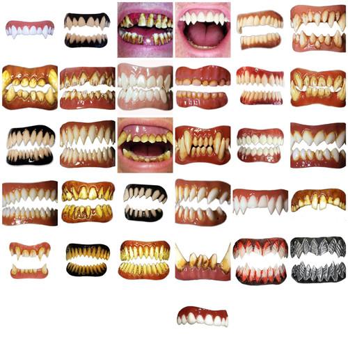 Dental Distortions Evil Clown Teeth Pennywise Grimm Grell Orc Minion Gaul Morlock Orc Raptor Wolfen Werewolf Zombie Nightslayer Lucius FX Fangs