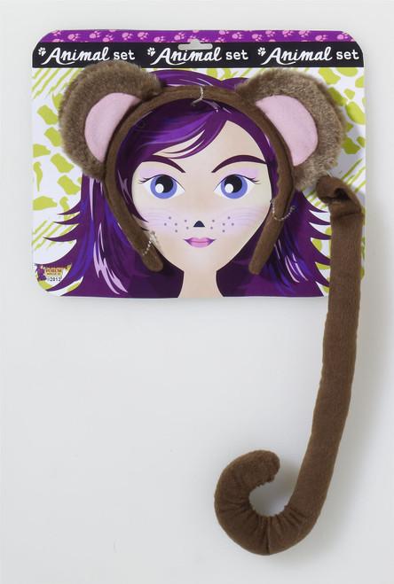 Monkey Headband and Tail Costume Accessory Kit