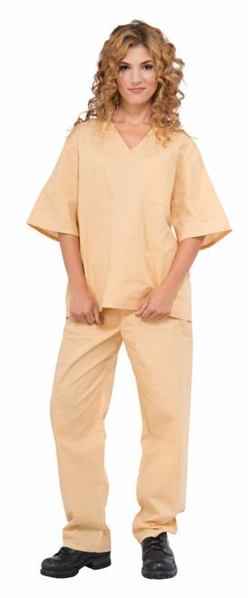 Beige Prisoner Uniform Adult Costume Standard