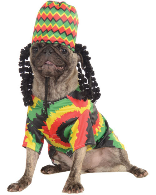 Rasta Dog Pet Costume Rastafarian Dog Bob Marley Dog