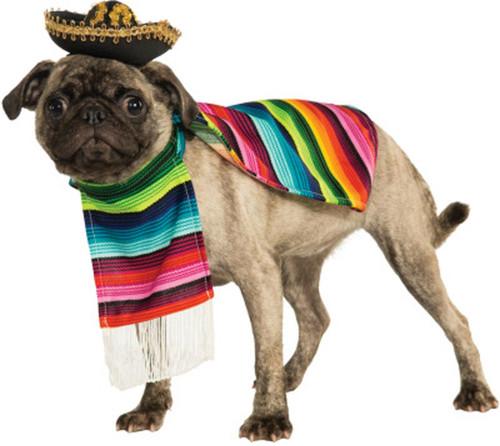 Mexican Serape Pet Costume Dress Your Pet Amigo Dog Halloween