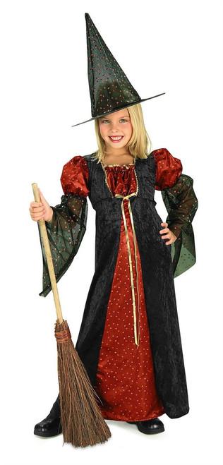 Halloween Glitter Witch Girls Costume 881122
