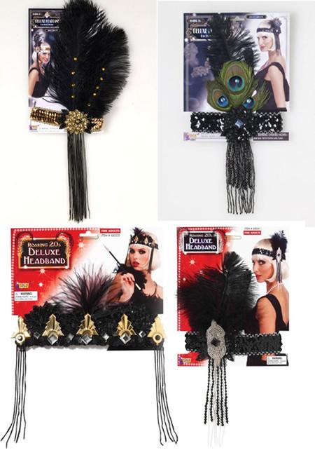 Womens Flapper Headband Costume Accessory