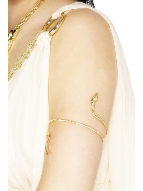 Egyptian Bracelet Gold Snake Costume Accessory