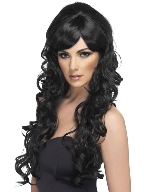 Pop Starlet Wig Black Long and Curly