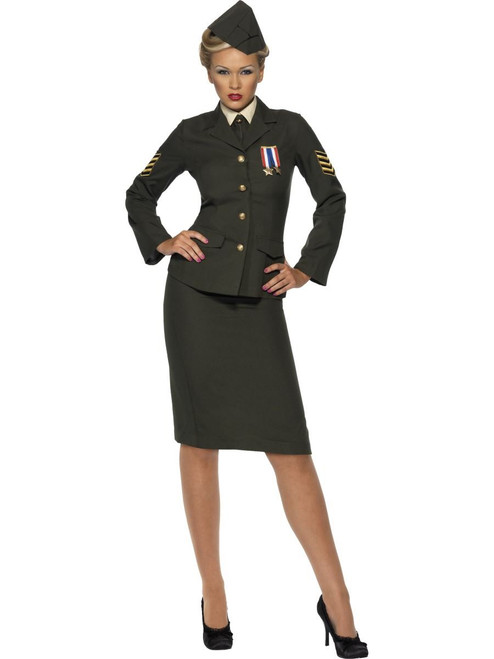 Womens Wartime Army Officer Costume by Smiffy's