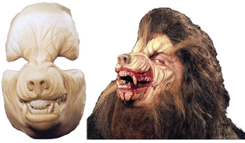 Werewolf Mask Foam Latex Prosthetic