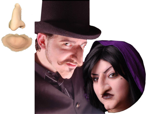 Witch or Villain Nose and Chin Stage Makeup Set Foam Latex Prosthetic