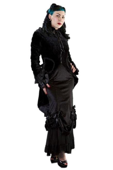 Burleska Import UK Black Velvet Women's Pirate Jacket