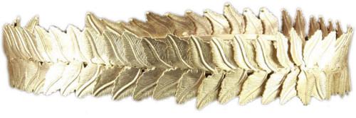 CAESAR CROWN gold leaf king emperor roman greek god toga costume accessory