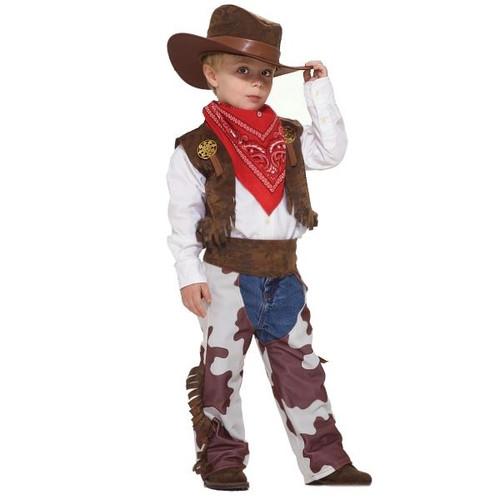 Wild West Little Cowboy Chaps Hat and Vest Costume
