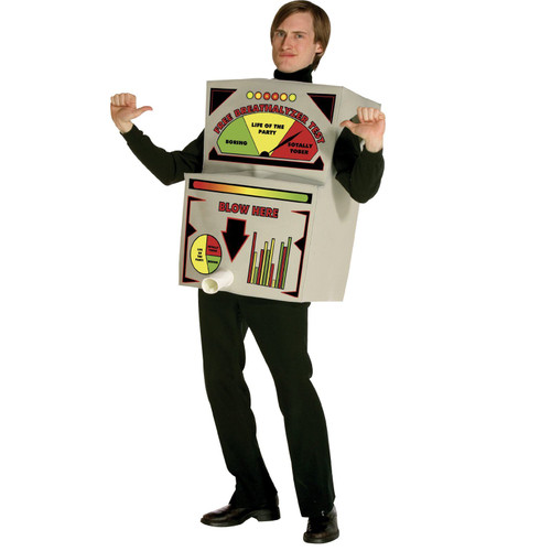 BREATHALYZER adult mens womens frat party funny alcohol Halloween costume