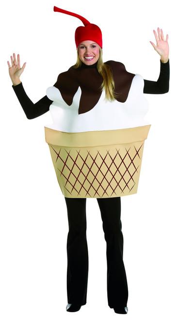 ICE CREAM SUNDAE Food mens womens adult funny dessert food halloween costume