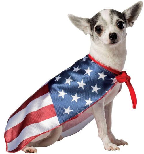 USA Dog Flag Cape