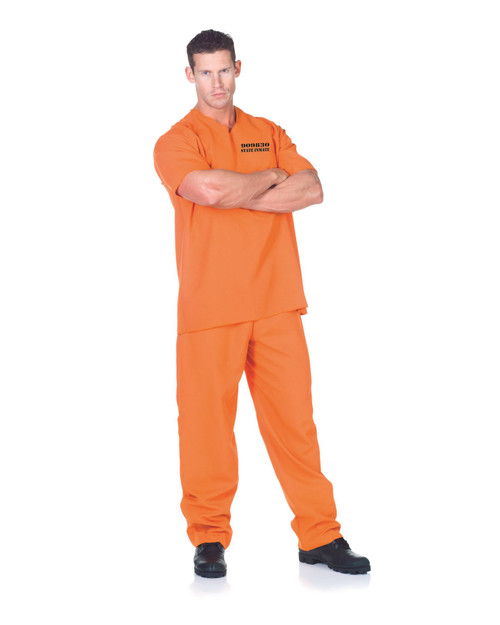 Orange Public Offender Costume One Size