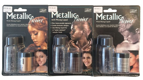 Metallic Powder with Mixing Liquid Mehron Makeup
