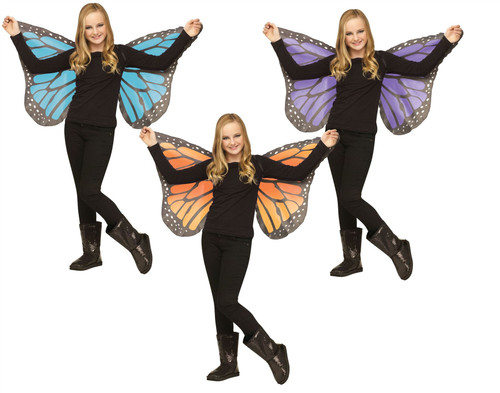 Soft Fabric Butterfly Wings Child Costume Accessory