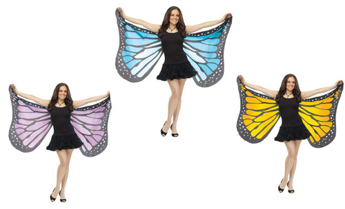 Soft Fabric Adult Butterfly Wings Costume Accessory