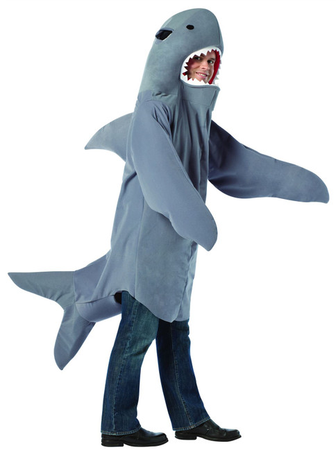 Shark Jaws grey adult funny mens halloween costume One size fits most