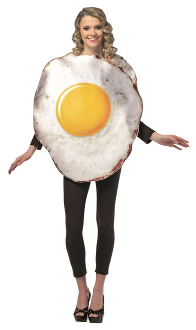 Adult Fried EGG halloween costume Rasta Imposta ONE SIZE