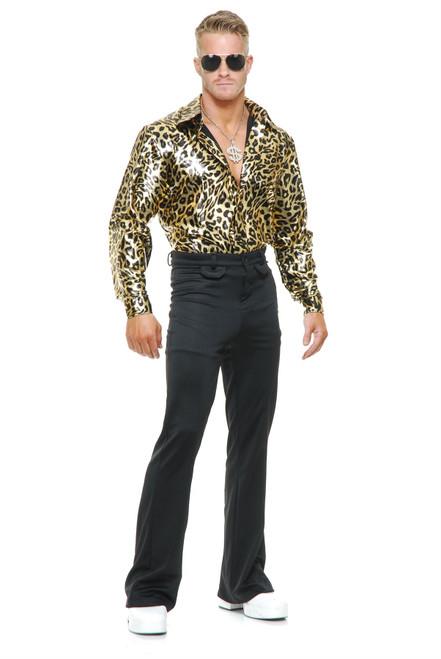Gold Leopard Disco Shirt