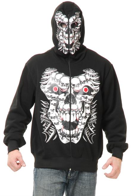 Adult Multi Skull Hoodie