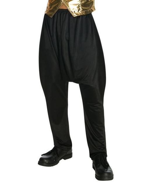 BLACK PARACHUTE PANTS rap hip hop rapper 80s mc hammer mens halloween costume