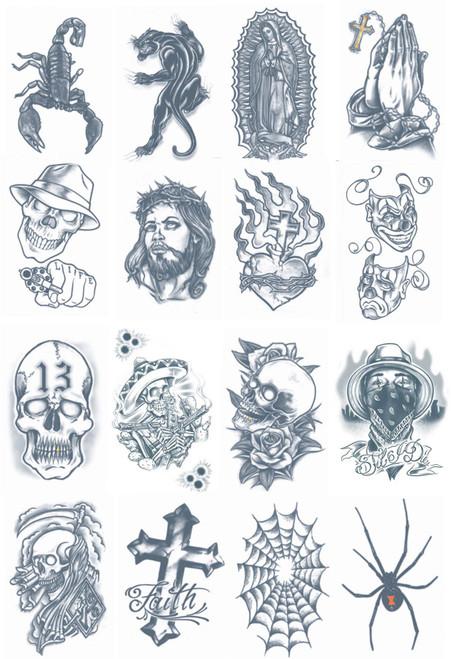 Tinsley Transfers Prison Temporary Tattoo FX