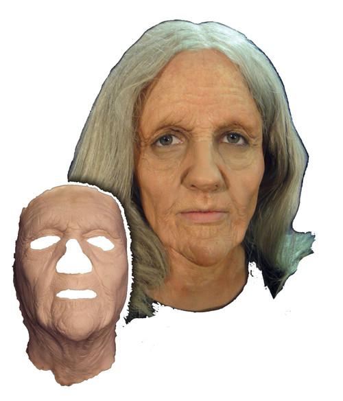 Old Woman Face Foam Latex Prosthetic Theater Appliance