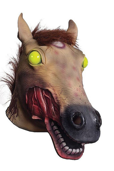 Light-UP Zombie Horse Head Mask