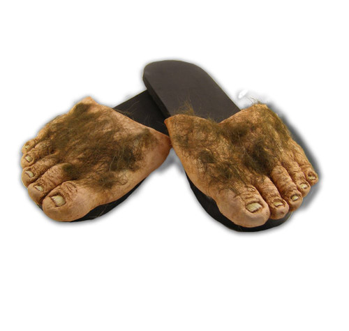 Hairy Feet Slip on Sandals Billy Bob Costume