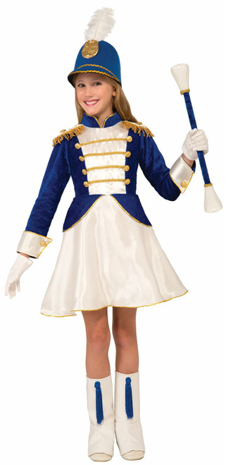 Blue Drum Majorette Kids Costume