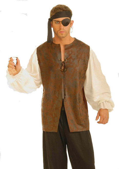 PIRATE SHIRT buccaneer renaissance vest blouse halloween adult mens costume
