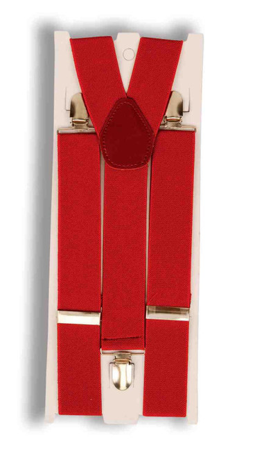 RED SUSPENDERS clown santa clause suit christmas halloween costume accessory