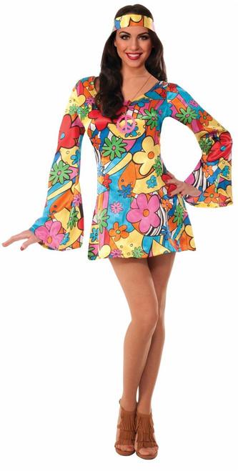 Adult Hippie Groovy Go-Go Dress