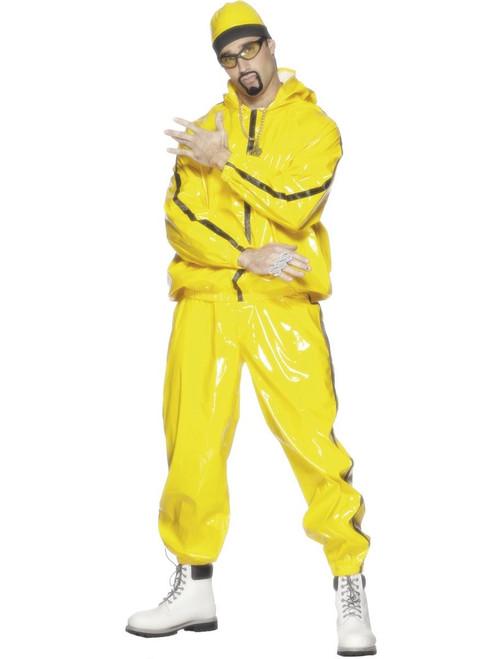 Rapper Suit Yellow PVC Ali G Costume