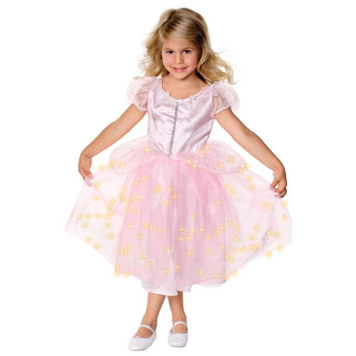LIGHT UP PRINCESS pink girls toddler fairy halloween costume SMALL