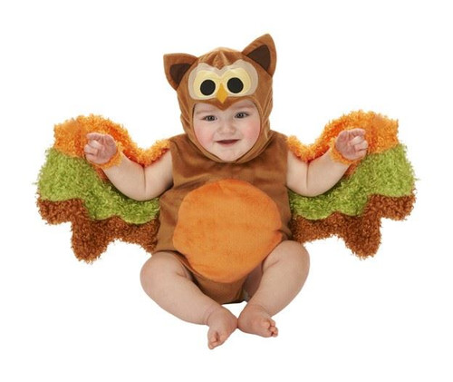 OWL ROMPER baby infant onesie wise animal boys girls halloween costume 6M