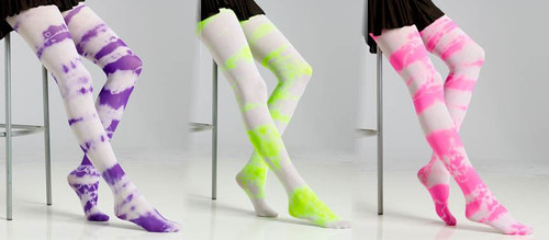 Tie Dye Stockings Costume Accessory