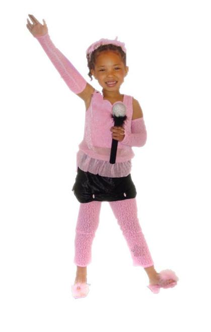 Girls Pop Star Costume Small