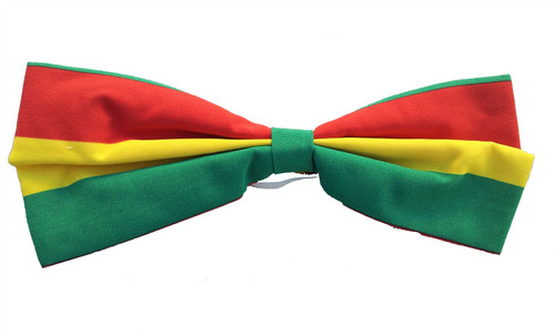 RAINBOW FIESTA BOW TIE clown funny mens womens holiday easter costume accessory