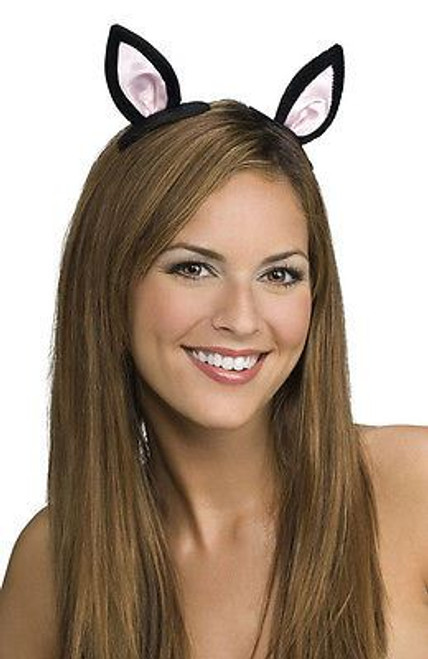 CLIP ON CAT EARS black mouse rat animal ear kids womens halloween costume animal