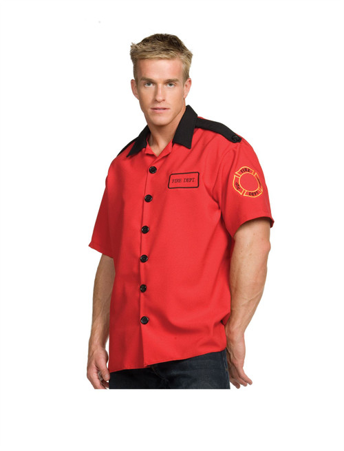 FIREMAN fire fighter man SHIRT mens halloween costume