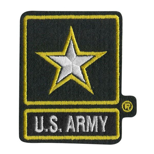 US ARMY PATCH embroidered iron on  military star USA costume boys mens costume