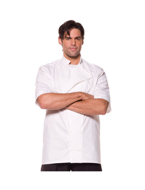 white MASTER CHEF baker shirt mens  halloween costume X-Large