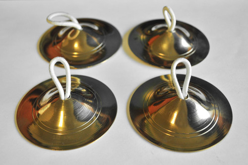 gold ZILLS finger cymbals belly dancing gypsy womens adult halloween costume